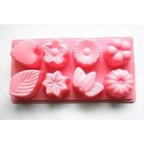Longzang 8-cavidad Hoja Floral Torta Del Silicón Jabón Decor