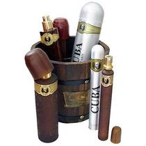 Perfume Cuba Dorado Cubo 5 Pc Set De Regalo Para Los Hombre