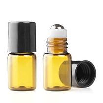Gran Parfums 2 Ml Botellas Vacías De Vidrio Ámbar Micro Mini