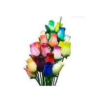 Roses Forever - Pequeño Bud Rosas De Madera Bouquet - Docena