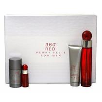 360 Red Set 4 Piezas De Perry Ellis