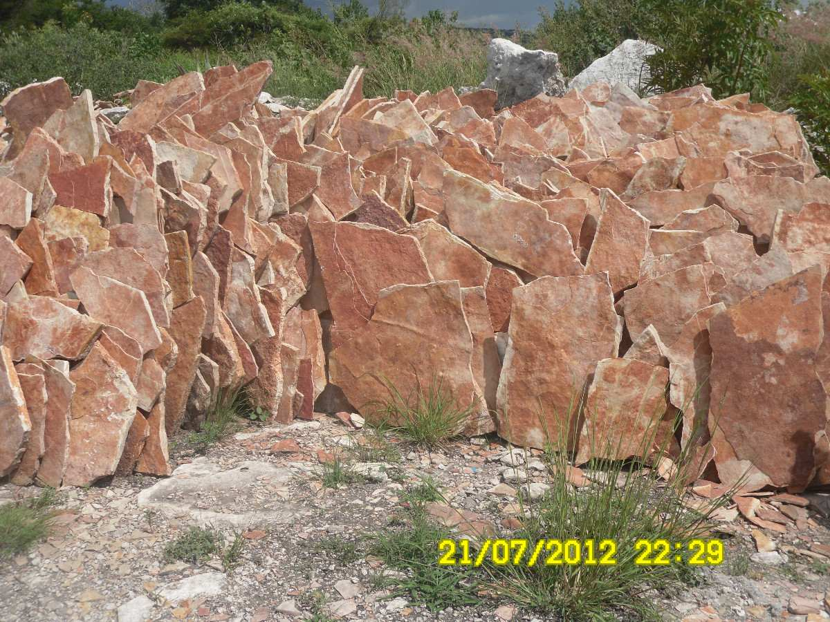 Piedra laja roja tlayua en mercadolibre - Lajas de piedra ...