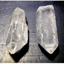 2 Puntas De Cuarzo Blanco 3.5x1.3 Y 3.2x1.4cm