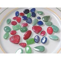 Piedra - Lote Esmeraldas Rubies Y Zafiros Naturales 742 Cts