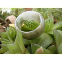 Anillo En Jade Verde Y Blanco No.7