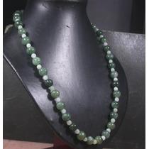 Precioso Collar En Jade Verde 10mm