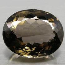 Cuarzo Ahumado Oval 34.08 Cts Piedras Preciosas 100% Natural