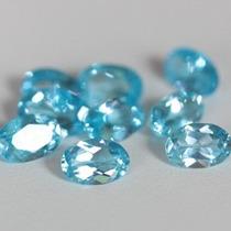 10 Topacios Azul Suizo 5.34 Quilates
