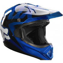 Casco Fox Vf-1 Azul 2015 Moto !! Talla Xl