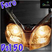 Faro Frontal Italika Ds150 Vento Phantom Nuevo O Mica Sola