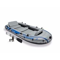 Bote Inflable Con Set Remos De Aluminio Y Bomba De Aire