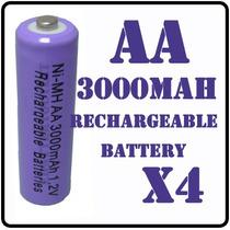 4 Pilas Baterias Recargables A A 3000mah Ni-mh