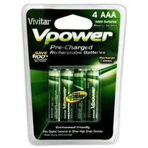 Paquete 4 Baterias Recargables Aaa Vivitar Nimh