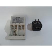2 Cargador Bateriar Recargables Aa Aaa Cudradas 1.5v 9v