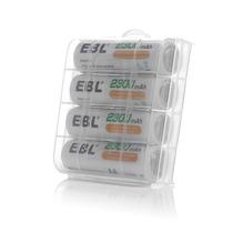 4 Pilas Baterias Recargables Aa 2300mah 1.2v Y Estuche