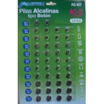 42 Pilas Alcalinas Mitzu Tipo Boton 1.5v De $129 A $59 Pesos