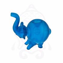 Pipa De Cristal En Forma De Elefante, Con Kick-hole (clutch)