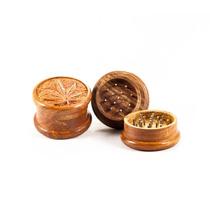 Grinder (moledor) De Madera Tallada (teca)