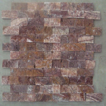 De La Colección Benzaa Stone Loseta Onyx Rojo Acabado Rusti