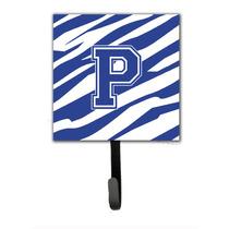 Letra P Inicial Raya Del Tigre Azul Y Titular De La Correa B