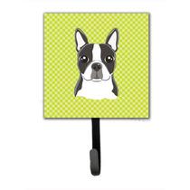 Cal A Cuadros Boston Terrier Correa O Titular De La Clave Bb