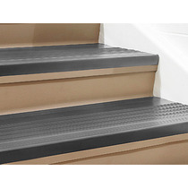 Piso O Paso De Vinil Para Escalera De 182cmx30cm Color Negro