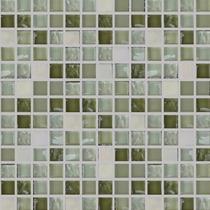 Mallas Decorativas Mosaico Veneciano De Cristal Jade 30x30cm