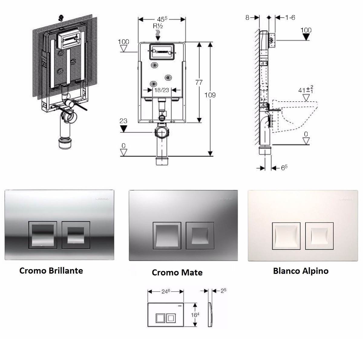 Pkit keramag geberit sanitario pulsador cisterna kombifix for Pulsador cisterna