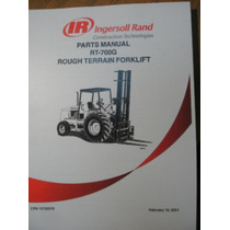 Manual Repuestos Montacargas Rt 706g Rt708g Ingersoll Rand