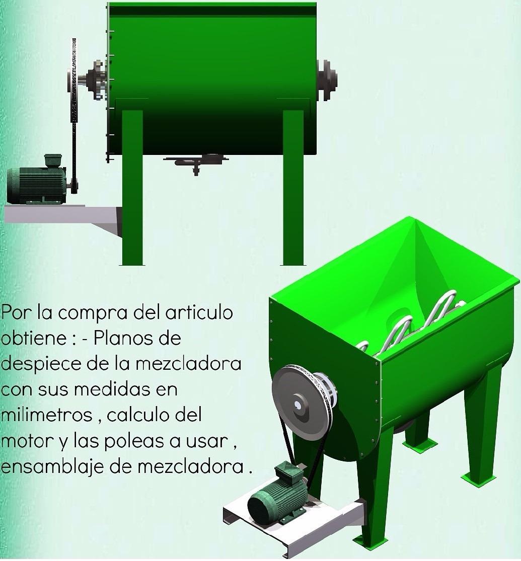 Planos mezcladora cemento concreto revolvedora alimentos y for Como desarmar una mezcladora de ducha