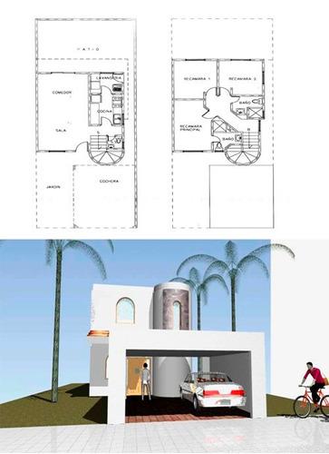 Planos de casas infonavit listos para construir 1 250 - Planos para hacer casas ...
