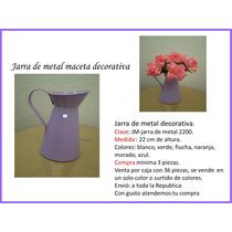 Macetas Plastico Y Metal Jarras, Lecheras, Regaderas Mdn