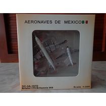 Britannia 302 Y Dc-3 Aeronaves De Mexico 1:400 Gemini Jets