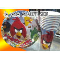 Angry Birds 10 Platos O Vasos Articulos De Fiesta