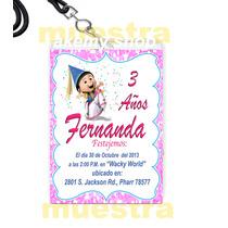 Agnes Villano Favorito 12 Gafete Vip Invitacion Fiesta
