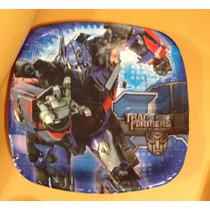 Transformers Articulos De Fiesta Platos, Vasos Envío 50 Pes