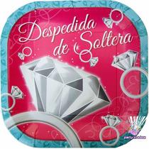 Fiesta Despedida De Soltera. Platos Vasos Invitaciones