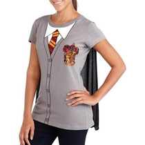 Playera Harry Potter Gryffindor Dama Original C/cdesmontable