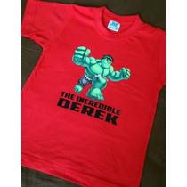 Playera Y Pañaleros Personalizados Hulk