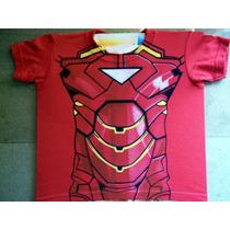 Playera Iron Man War Machine Armadura Aerografia