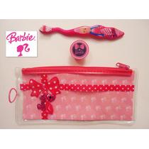 Set Nina Cepillo De Dientes Barbie Con Bolsita Y Cubierta Ve