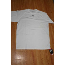 Playera Under Armour Blanca Heat Gear Talla Lg