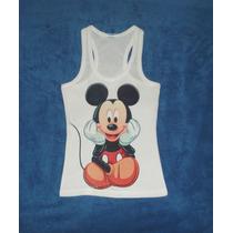 Blusa Camiseta Mickey Mouse Disney Películas Tank Blanca