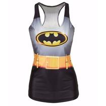 Playera Sin Mangas Diseño Batman,unitalla Mujer.