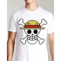 Playera O Camiseta One Piece Todos Los Logos Piratas