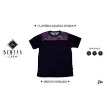 Playera Benzaa Crew Modelo Manga Corta