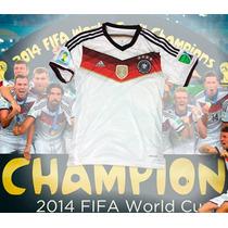 Jersey Alemania Parches Fifa Mangas,4 Estrellas Envío Inmed.