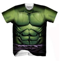Marvel Avengers Playera Hulk Verde Rock Sublimada Nueva