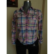 Blusas Abercrombie & Fitch Xs-s Nueva Camisa Plaid Pantalone