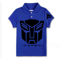 Playera Camiseta Tipo Polo Transformers 100% Calidad